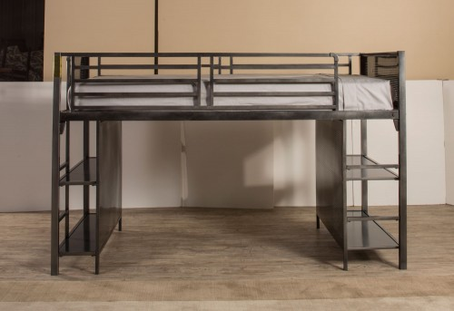 Urban Quarters Youth Junior Loft Bed - Black Steel