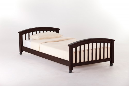 School House Student Loft Twin Lower Bed - Chocolate