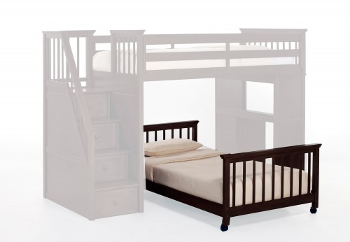SchoolHouse Twin Lower Stair Bed - Chocolate