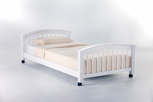School House Student Loft Twin Lower Bed - White
