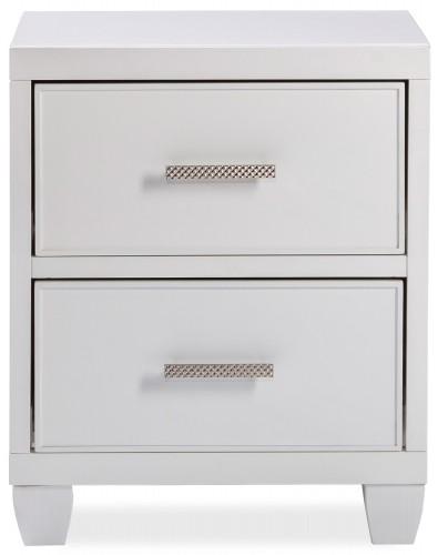 Lyndon Lane 2-Drawer Wood Nightstand - White