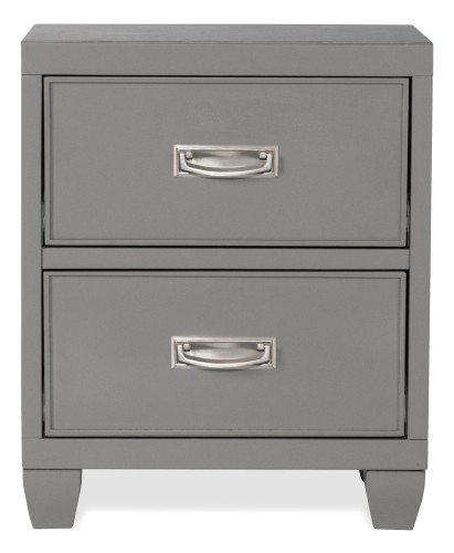 Lyndon Lane 2-Drawer Wood Nightstand - Gray